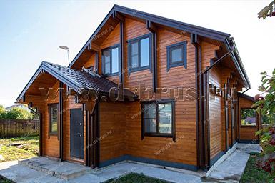 Дом из Двойного Бруса в Пущино