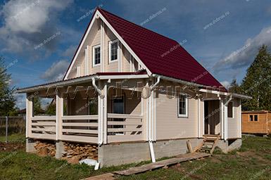 Дачный Дом из Двойного Бруса 7х5,5 м