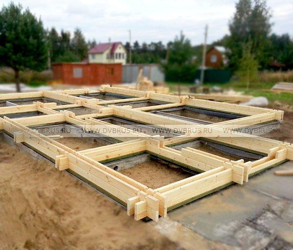 Строительство дома из двойного бруса